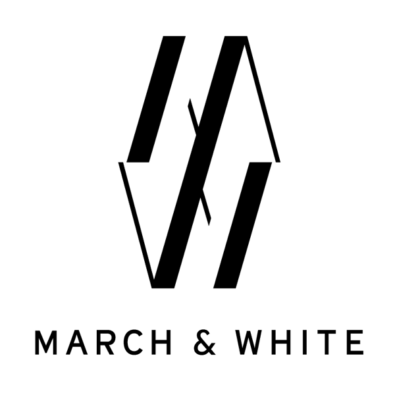 March & White logo