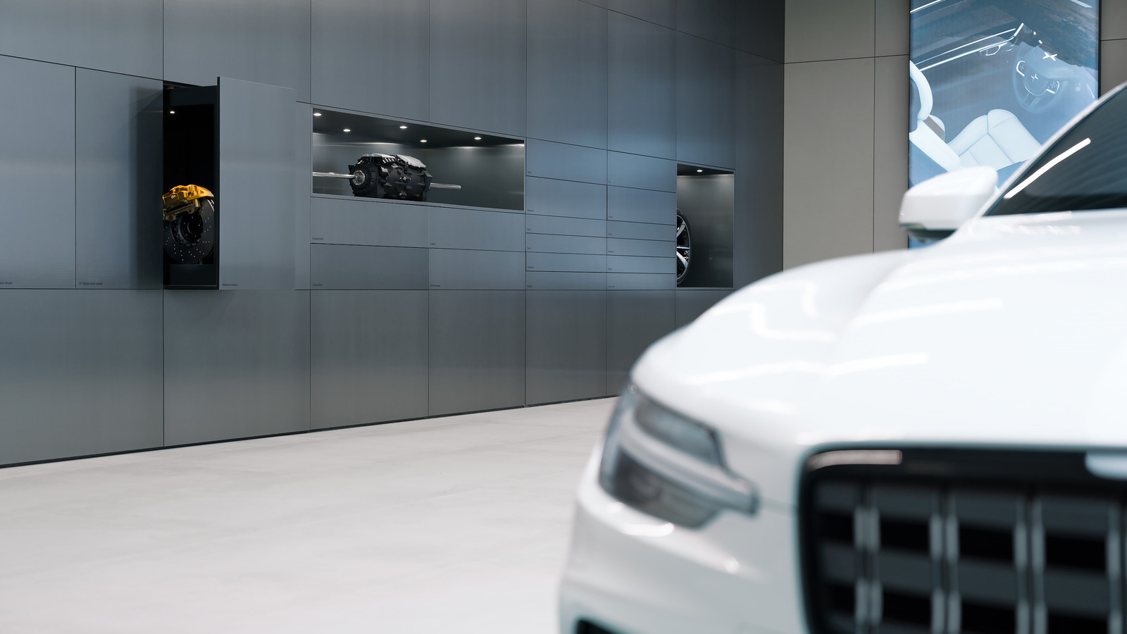 Polestar Places are creative environments where customers will be able to examine the inner workings of the car