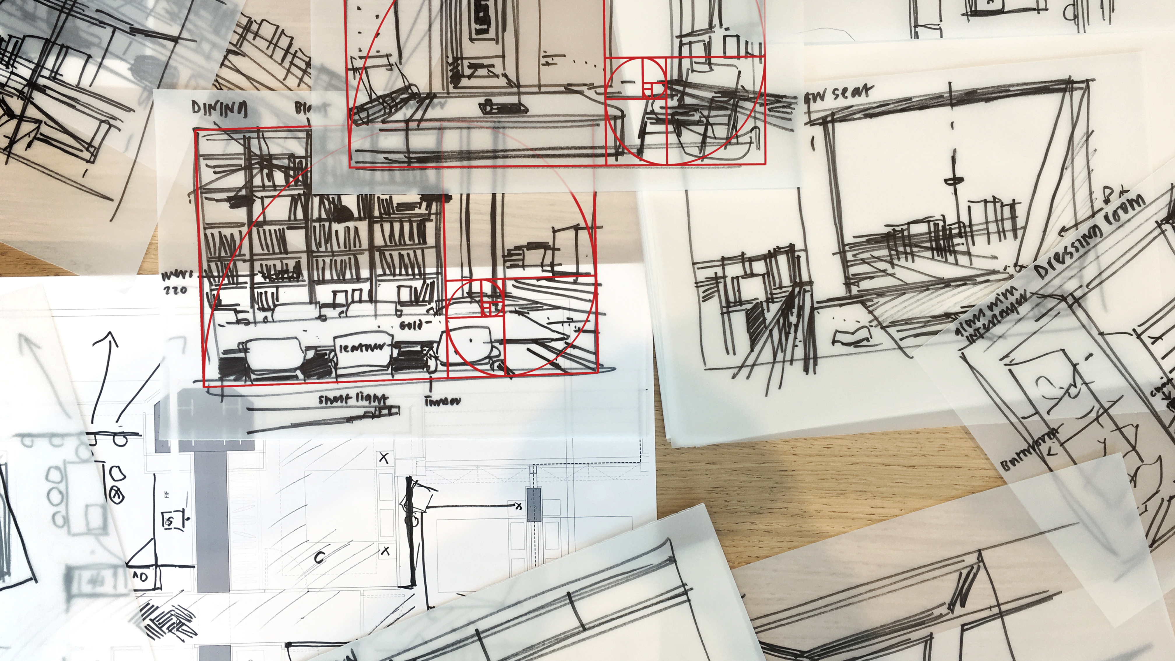 Hand-drawings by Foster + Partners' art director Narinder Sagoo
